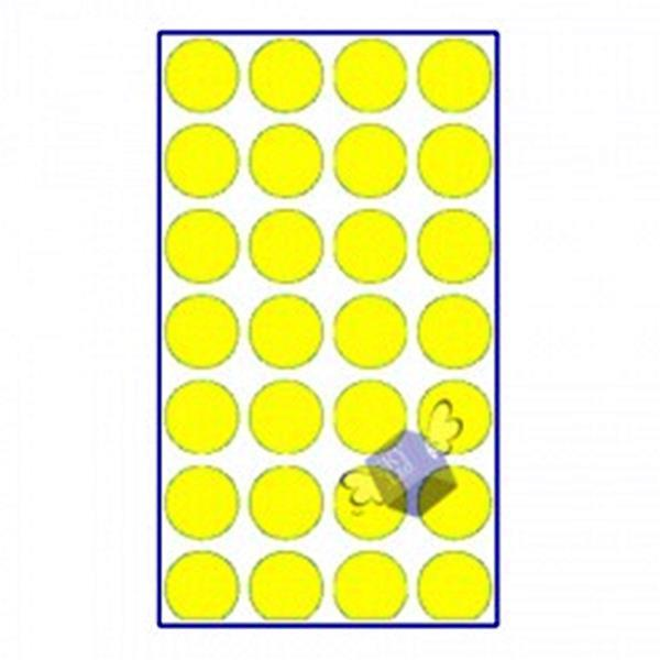 칼라분류용라벨330(노)/ 동그라미스티커 원형스티커 원스티커 분류라벨 분류표기용라